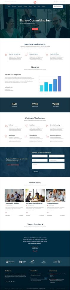 Biznes Inc is clean and modern design responsive #HTML #bootstrap template for business #consulting and #financial services company website download now..