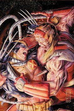Omega Red vs. Wolverine.