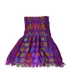Take a look at this Purple Silk-Blend Scarf by Karma Living on #zulily today!