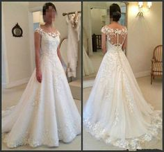 White/Ivory Lace mermaid Wedding Dress Bridal Gown Custom Size 4 6 8 10 12 14 +