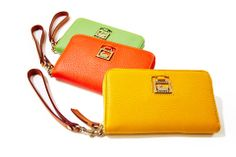 SIMPLY PERFECT - What could be better than a wallet that doubles as a phone case? See the Dillen phone wristlet in all 16 colors at http://www.dooney.com/OA_HTML/ibeCCtpSctDspRte.jsp?minisite=10020&respid=22372&dbref=d335&dbmed=social&dbsource=AOW0211148U102&dbname=AOW0211148U102+%28d335%29&section=66605