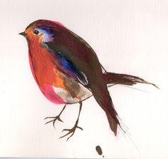 Friendly little robin in my garden, Giclée print (from a drawing) by Nancy Moniz Charalambous Baby Robin, Robin Redbreast, Ink Illustrations, Paintings For Sale, Inktober, My Drawings, Giclee Print, Artwork, Animals