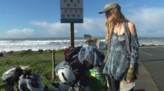 Sarah Bellums has been documenting her 800 mile plus journey from San Luis Obispo to Portland, Oregon on her blog in order to create a documentary about trash and promote the idea of zero waste.