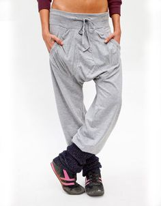the harem pants in grey