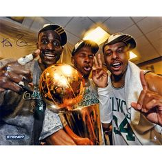 Kevin Garnett Signed Metallic Big 3 16x20 Photo - Basketball star Kevin Garnett has personally hand-signed this 16x20 Photo.100% Guaranteed AuthenticIncludes Steiner Certificate of Authenticity Features Tamper-Evident Steiner HologramPerfect Collectors Item. Gifts > Collectibles > Nba Memorabilia. Weight: 2.00
