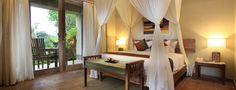 The rooms are available with king-size or twin bed options, and also feature a spacious private balcony overlooking the most beautiful rice terrace view. Ubud Hotels, Rice Terraces, Resort Spa, Outdoor Furniture, Outdoor Decor, Serenity, Bali, Paradise, How To Plan