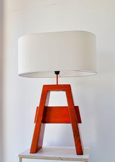 lampara mesa A roja