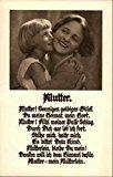 German Mothers Day Card Women Original Vintage Postcard