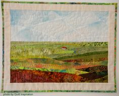 Shieling on the Moor 2, by Effie Galletly.  The pale fabrics in the background, mixed with the dark patterned ones in the foreground create a great sense of depth.
