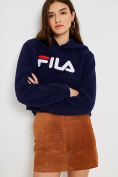 FILA Navy Teddy Hoodie - 8 - TEDDY fabrics