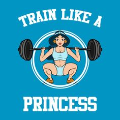 "Awesome #train ""like #princess #jasmine #gym #bodybuilding #crossfit #tshirt design on TeePublic!"