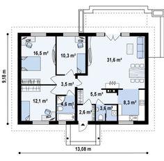 Проект классического дома размерами 10 на 10 кв. метров | Dom4m.com.ua
