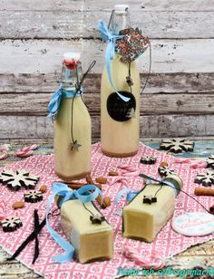 Marzipan liqueur as a last minute gift - This recipe for homemade marzipan liqueur is quick and easy to prepare. I also used real marzipan f - Diy Gifts, Best Gifts, Kenwood Cooking, Diy Snacks, Paleo Meal Plan, Alcohol, Holiday Break, Liqueur, Vegetable Drinks