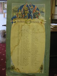 The Scottish War Memorials Project :Unknown Carluke Roll of Honour