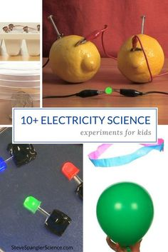 10+ Electricity Science Experiments and Activities for Kids! Learn all about the dance of electrons; who they'll jump in with and who they avoid with the Static Tube and Static Powered Neon Light.