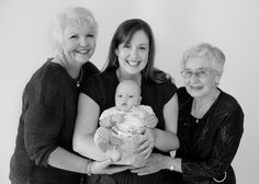 Four generations - Family and Newborn portraits Perth Australia by Lilypad Photography