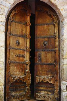 Italian castle doors