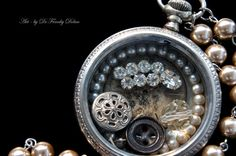 Faeries Found, Necklace by Award - Winning Fae Factory Steampunk Chic Artist, Dr Franky Dolan  (Original pocket watch necklace jewelry art)