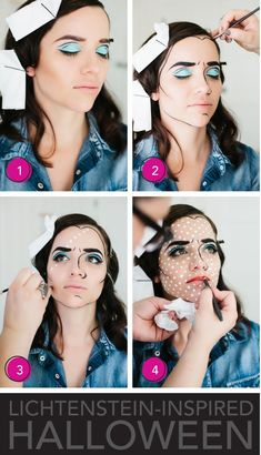 Halloween Makeup | Lichtenstein Inspired | @Heidi D'Amelio design :: heidi bartlett