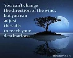 You can& change the direction of the wind but you can adjust the sails to reach your distination. Famous Quotes About Change, Change Quotes, Top Quotes, Great Quotes, Inspirational Quotes, Rumi Quotes, Amazing Quotes, Facebook Quotes, Learning Quotes