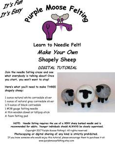 Lovely Purple Elk Penguin Needle Felting Kit with Basic Tools for Beginners