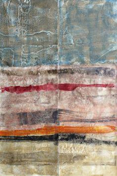 Encaustic and silk on panels  ©Helen DeRamus 2012