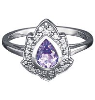 AVON - Sterling Silver Genuine Amethyst Pear Ring $29.99 www.youravon.com/tseagraves