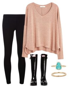 """""""OOTD"""" by prep-lover1 ❤ liked on Polyvore featuring мода, James Perse, MANGO, Hunter и Kendra Scott"""