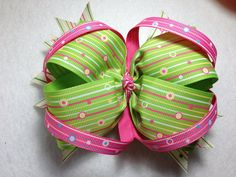 Pastel Colored Hair Bow by lindajohnson1977 on Etsy, $5.00