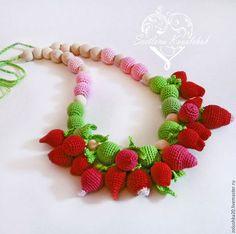 """Слингобусы """"Клубничное счастье!"""" - клубника, малина, много красных и зеленых ягод и листиков. Toys, Activity Toys, Toy"""