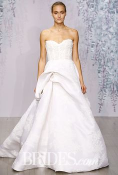 Brides: Monique Lhuillier Wedding Dresses - Fall 2016 - Bridal Runway Shows - Brides.com