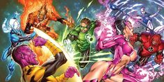 Green Lantern corps fighting