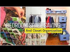 (12) 12 Bedroom space saving and Closet organization ideas - YouTube