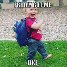 Funny friday memes, tgif meme, it's friday humor, its friday meme, hap Memes Humor, Friday Quotes Humor, Funny Friday Memes, Funny Memes, Friday Funnies, Monday Memes, Tgif Quotes, Bye Quotes, Night Quotes