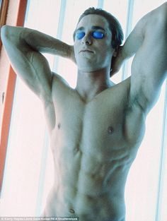 Christian Bale in tanning bed in a scene from the film 'American Psycho', Get premium, high resolution news photos at Getty Images Christian Bale, American Psycho Quotes, Dick Cheney, Man Movies, Child Actors, Hot Actors, Rich People, Shirtless Men, Transformation Body