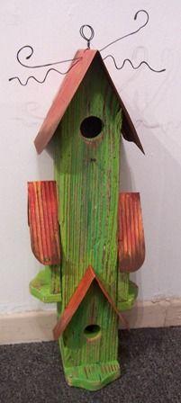 Birdhouse - Condo in Green with Orange Roof