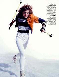 visual optimism; fashion editorials, shows, campaigns & more!: ski pass: ophelie rupp by max cardelli for marie claire italia december 2013