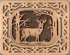 Free MSN Scroll Saw Patterns | SLD256 - Self-Framing Deer Plaque