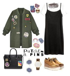 """Patches"" by stylesmanda on Polyvore featuring STELLA McCARTNEY, WithChic, Marc Jacobs, Yves Saint Laurent, Chanel, Fallon and Larsson & Jennings"