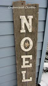 Thrift Shop Letter & Junk Wood Noel Sign - Put a starfish in the O Merry Christmas, Christmas Signs, Country Christmas, Rustic Christmas, All Things Christmas, Winter Christmas, Christmas Holidays, Christmas Porch, Christmas Ornaments