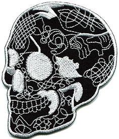 Skull tattoo horror biker goth emo punk rock metal applique iron-on patch TKPatch http://www.amazon.com/dp/B00RKZEWUC/ref=cm_sw_r_pi_dp_OJrUwb1BJSTBH
