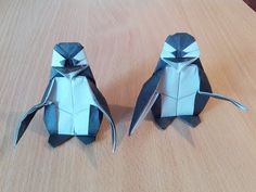Origami penguin by Fernando Gilgado Origami Penguin, Kids Origami, Origami And Kirigami, Origami Love, Origami Folding, Oragami, Origami Easy, Origami Paper, Origami Birds