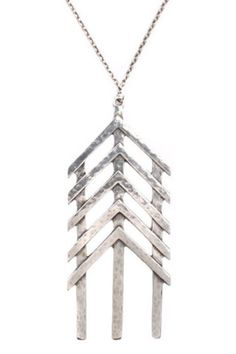 Straight Shooter Silver Necklace