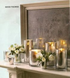 Mercury Glass is everywhere this season! The silvery-gold antiqued effect creates a vintage feel, while still looking very glam! But, it can come with a high price tag!