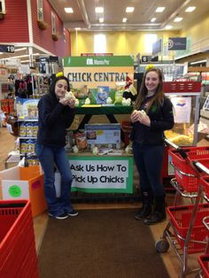Kora and Megan thinking about the orders of chicks this Spring!
