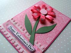 Flower of Love Handmade Valentine | http://handmade-earrings.blogspot.com