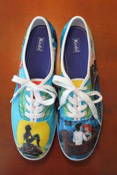 9eb4a881d667 The Little Mermaid by Artistic Kicks Customized Shoes
