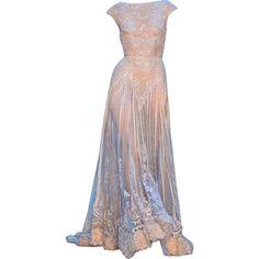 ElieSaab- Editado por dehti ❤ liked on Polyvore featuring dresses, gowns, long dresses, elie saab and vestidos