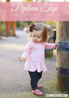 Abby from Sew Much Ado shares a free pattern for her baby girls peplum top.  It's a baby girl version of her Pretty in Peplum Dress & Top Pattern, which is in girls sizes 18 months -12 ye…