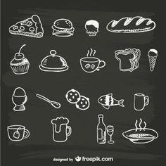 From Freepik: Hand-drawn menu food graphics